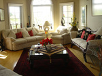 Enjoy a nice book in this inviting bright great room